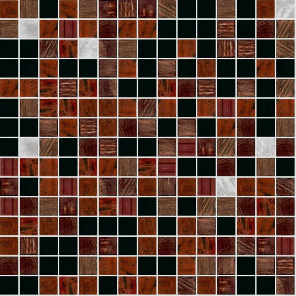 Standard Mix 13 x 13 Glass Mosaic Tile by Mosaic Loft