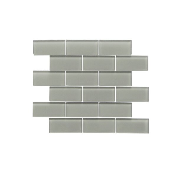 Premium Series 2 x 4 Glass Subway Tile in Glossy Dark Gray by WS Tiles