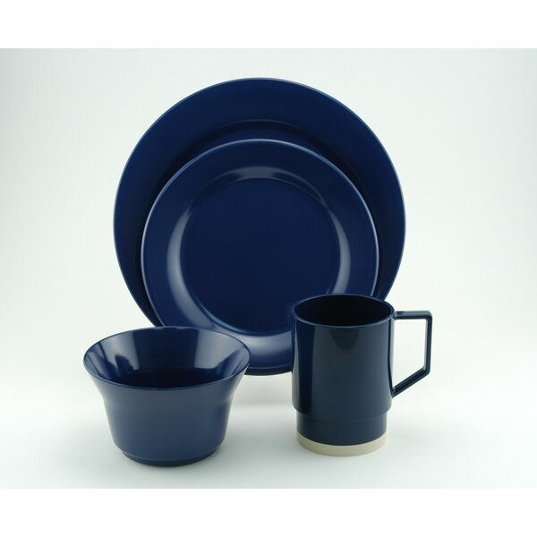 Melamine 16 Piece Dinnerware Set, Service for 4 by Galleyware Company