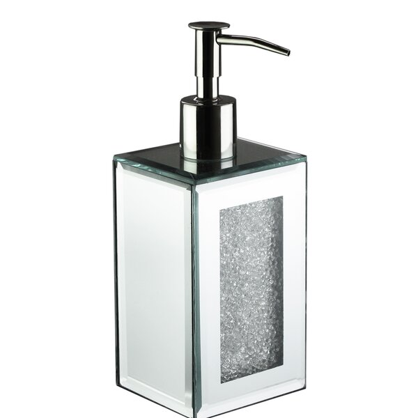 Chagoya Mirror Crushed Lotion Dispenser by House of Hampton