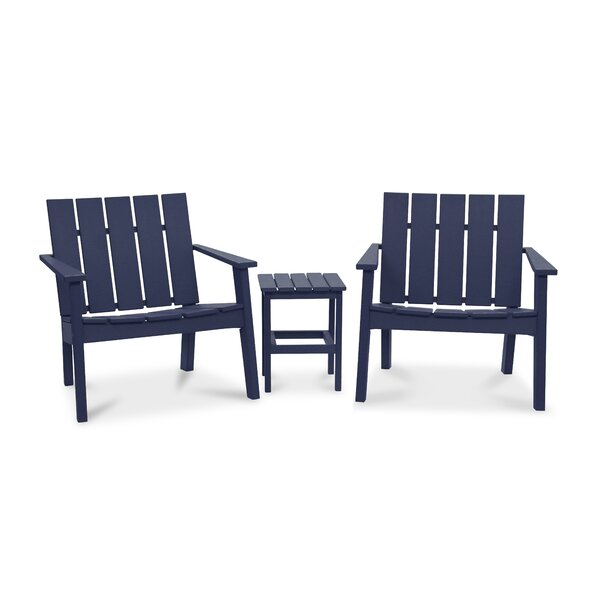 Galewood 3 Piece Chat Patio Chair Set by Rosecliff Heights