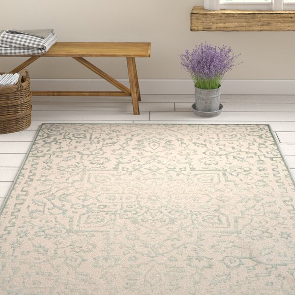 Forestburgh Oriental Light Blue/Ivory Area Rug by Ophelia & Co.