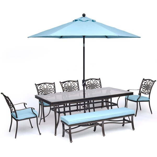 Robicheaux 7 Piece Dining Set with Cushions