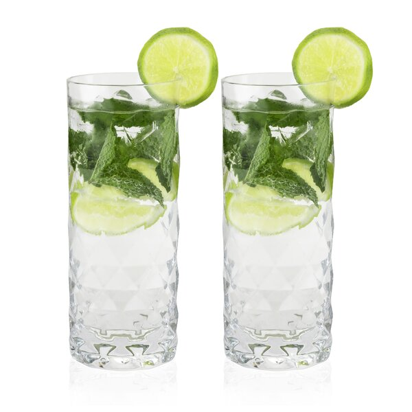 Raye™ Gem Crystal 14 oz. Highball Glass (Set of 2) by Viski