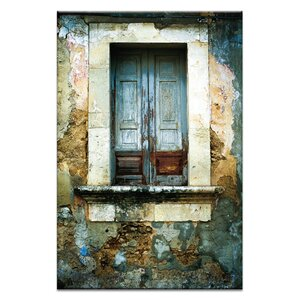 Doors of Italy - Finestra Solido by Joe Vittorio Framed Photographic Print on Wrapped Canvas by Artist Lane