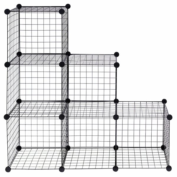 Jorge Grid Wire Cube Bookcase (Set Of 6) By Rebrilliant