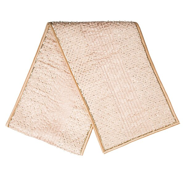 Sequin and Pearl Shimmer Border Table Runner by Sivaana