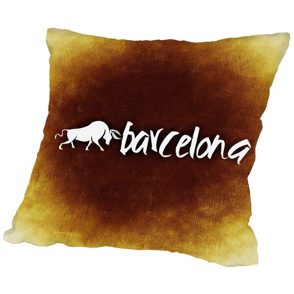 Barcelona Spain Throw Pillow by East Urban Home