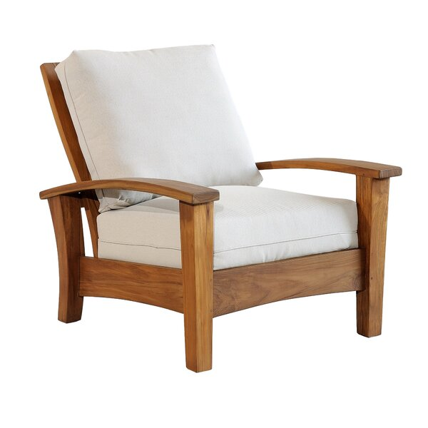 Kugler Teak Patio Chair with Cushions by Millwood Pines Millwood Pines
