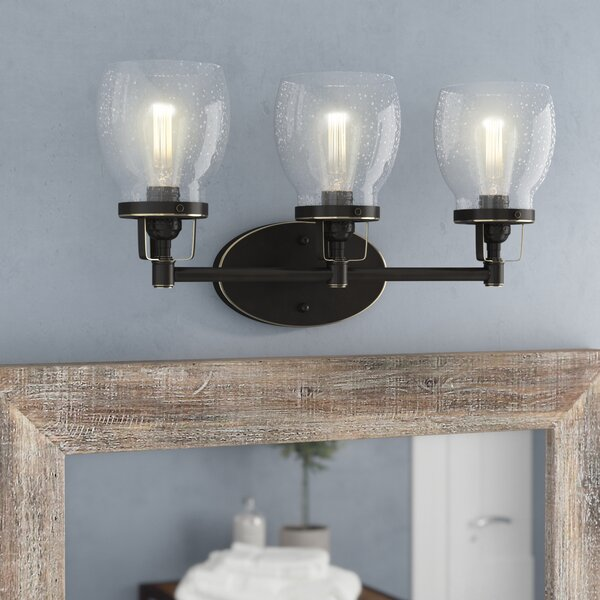 Panorama Point Heirloom Bronze 3-Light Vanity Light by Trent Austin Design