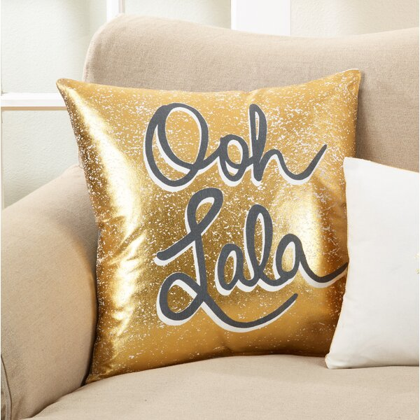 Ilminster Ooh Lala Design Cotton Throw Pillow by Everly Quinn
