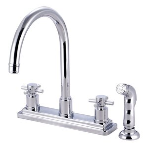 Elements of Design Concord Double Handle Kitchen Faucet with Sprayer