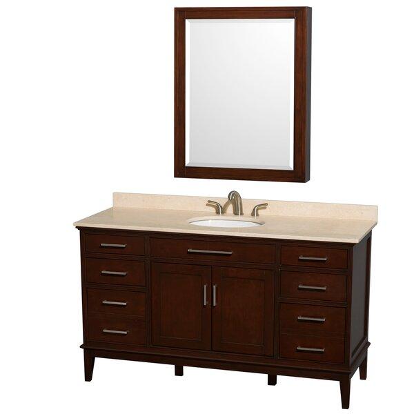 Hatton 60 Single Bathroom Vanity Set with Mirror