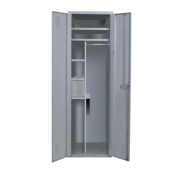 Welded 3 Tier 1 Wide Storage Locker by Hallowell