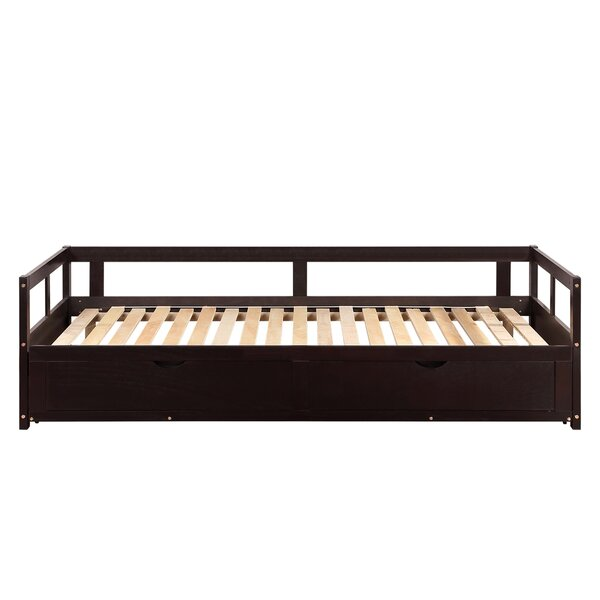 Marbella Wooden Twin Daybed With Trundle By Red Barrel Studio