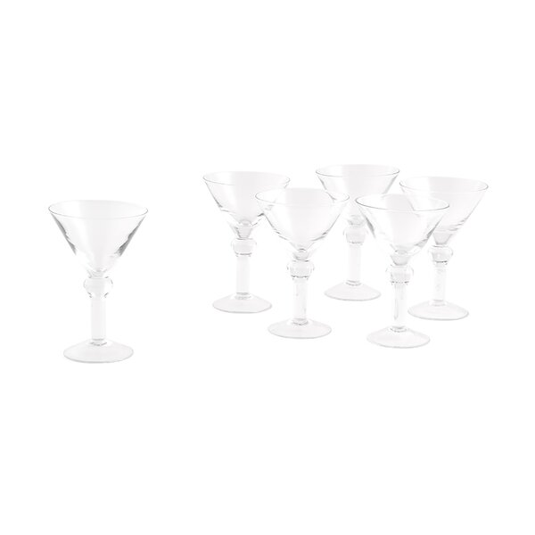 Mini 3 Oz. Martini Glasses (Set of 6) by Weddingstar