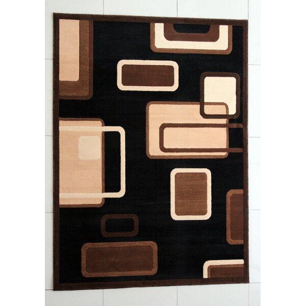 Shenton Black Area Rug by Ebern Designs