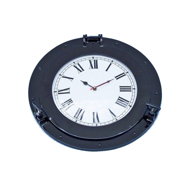 Porthole 15 Wall Clock by Beachcrest Home
