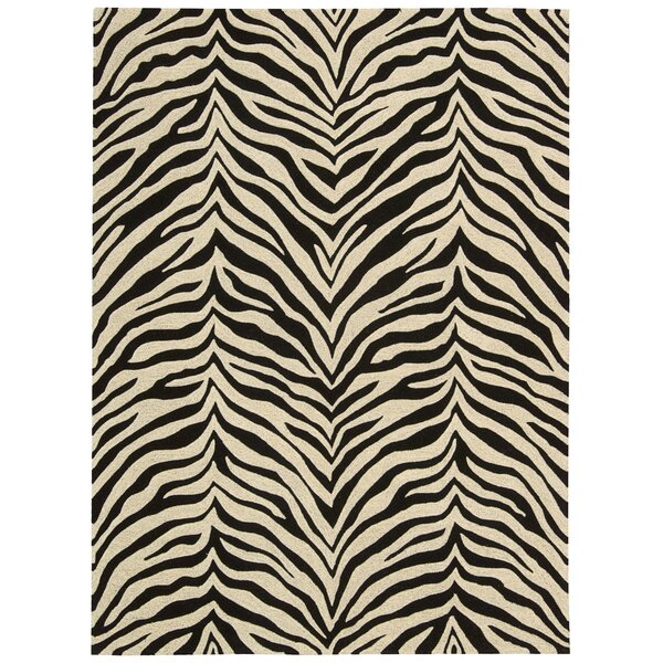 Zambiana Hand-Tufted Black/White Area Rug by Michael Amini