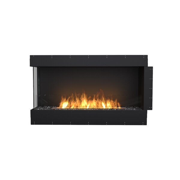 FLEX50 Left Corner Wall Mounted Bio-Ethanol Fireplace Insert by EcoSmart Fire