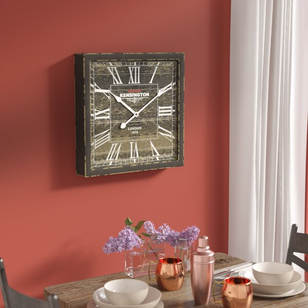 Lindberg Antique Square Wall Clock by Laurel Foundry Modern Farmhouse