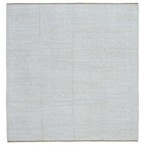 Evan Kilim Hand-Woven Wool Gray Area Rug