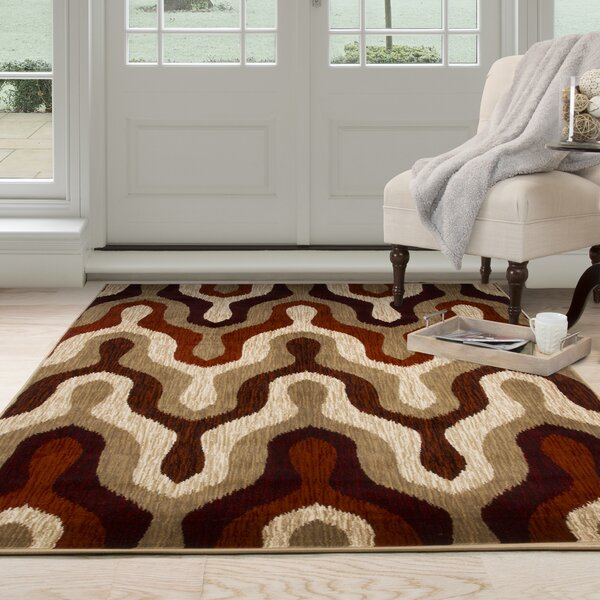 Silhouette Red Area Rug by Plymouth Home