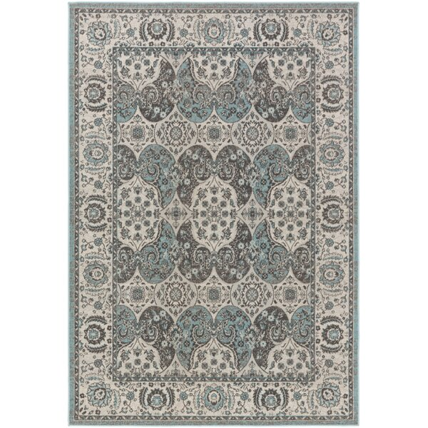 Eberly Turquoise/Gray Area Rug by Charlton Home