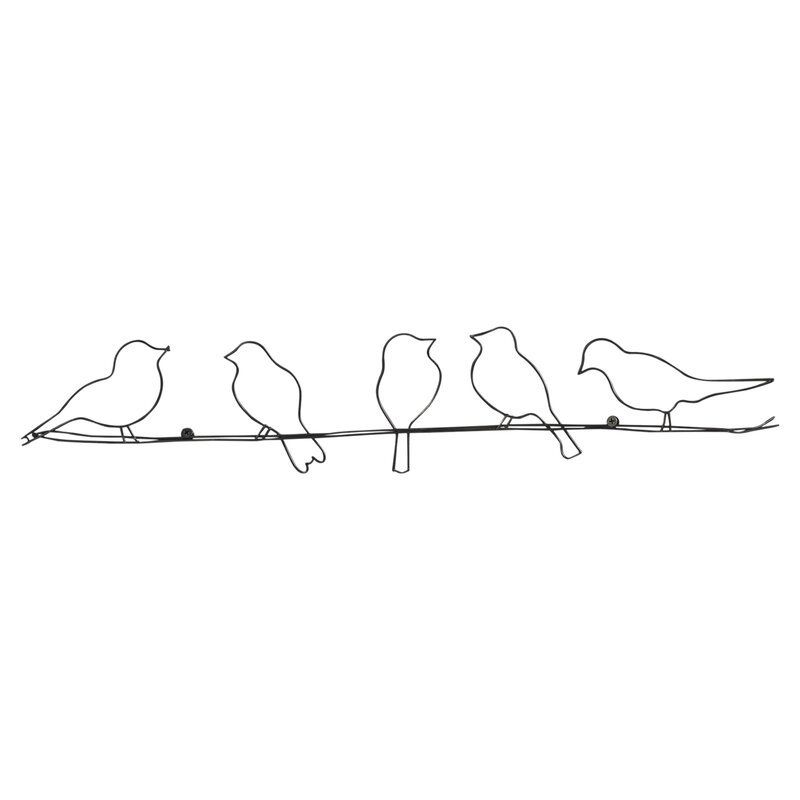 Wire Wall Decor august grove rioux birds on a wire wall décor & reviews | wayfair