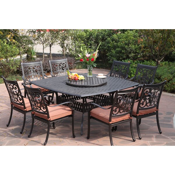 Mccraney 10 Piece Dining Set with Cushions by Astoria Grand