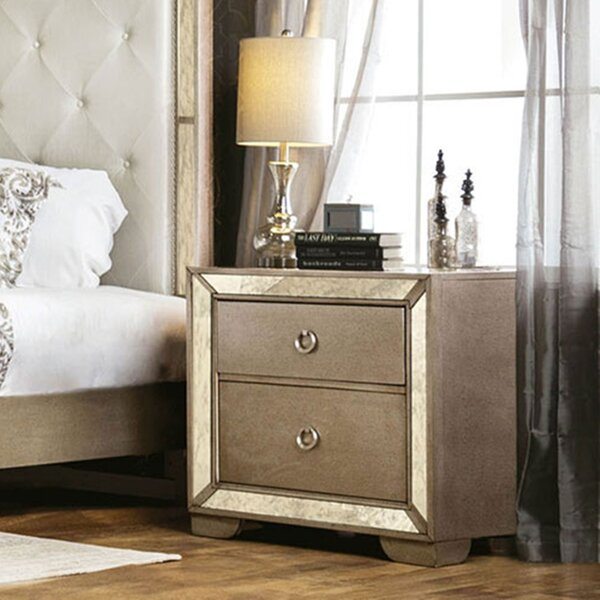 Alysa 2 Drawer Nightstand by Rosdorf Park