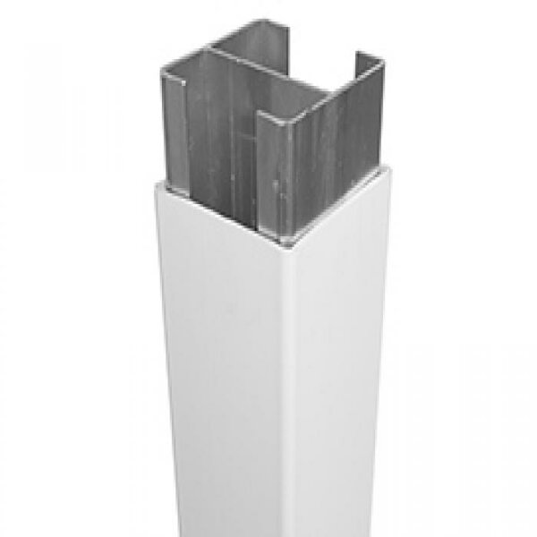 Aluminum H Beam Post Insert for Rainier Fence Gate by Vinyl Fence Wholesaler