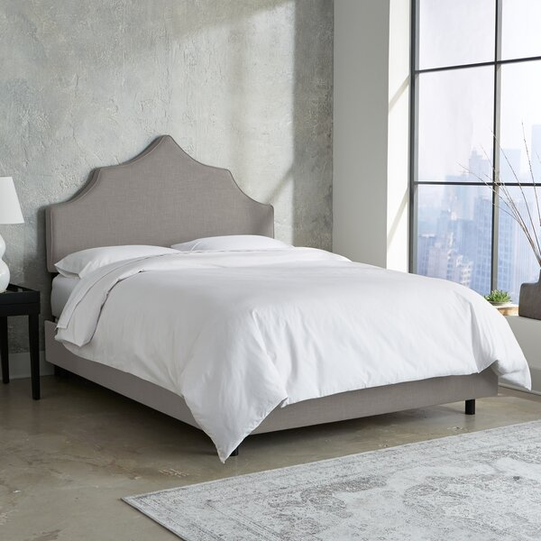 Suttons Notched Upholstered Standard Bed by Rosdorf Park