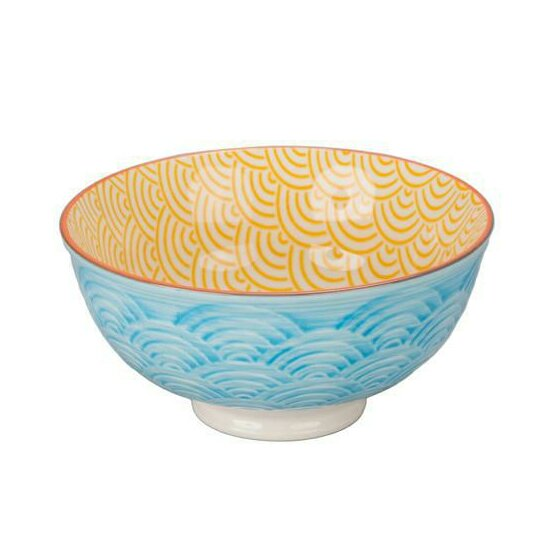 Ooh La La 11 oz. Waves Bowl (Set of 4) by BIA Cordon Bleu