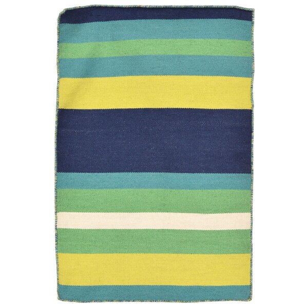 Ranier Hand-Woven Green Indoor/Outdoor Area Rug By Beachcrest Home