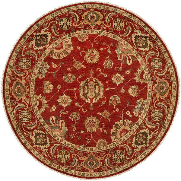 Ushuaia Hand-Knotted Red/Beige Area Rug