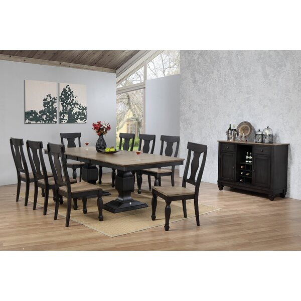 Grondin Solid Wood Dining Table By Charlton Home