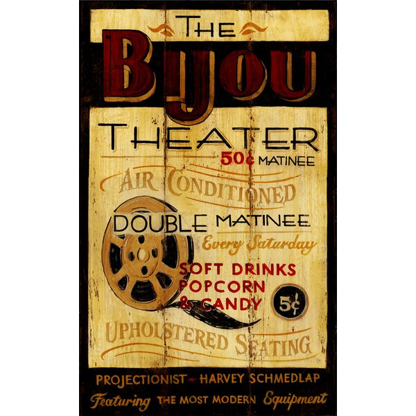 Bijou Theatre Vintage Advertisement Plaque by Ebern Designs