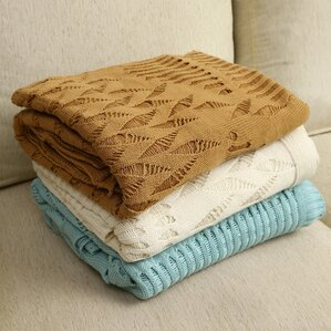 Woodbrige Knitted Fishnet Cotton Throw