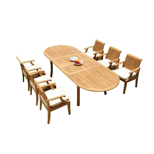 Gaener 7 Piece Teak Dining Set by Rosecliff Heights