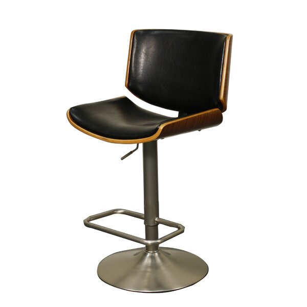Thill Adjustable Height Swivel Bar Stool by Wrought Studio