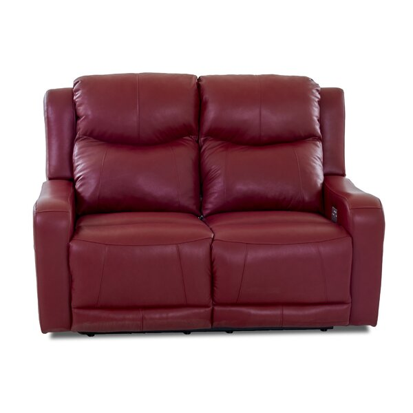 Online Review Theodore Leather Reclining Loveseat by Red Barrel Studio by Red Barrel Studio