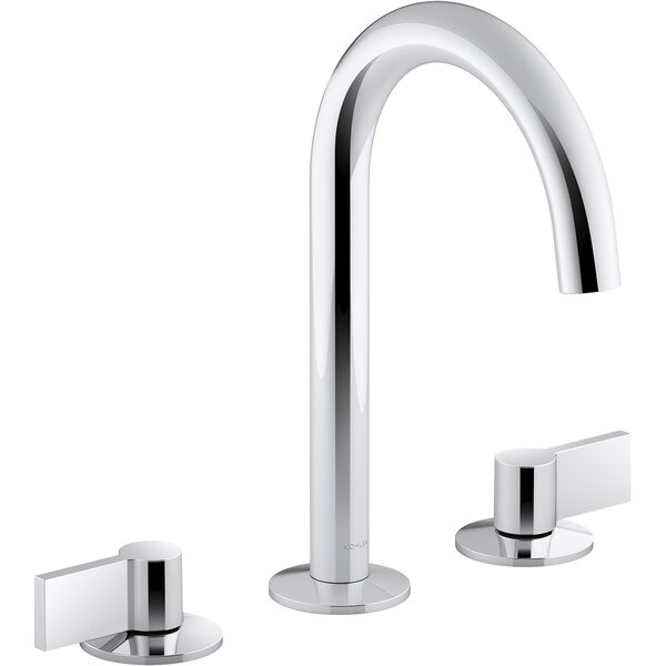 Components Wide Spread Bathroom Faucet with Lever Handles