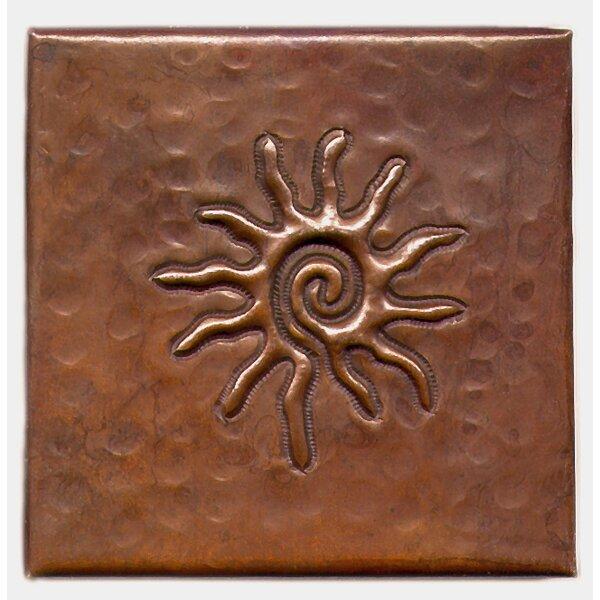 Infinite Sun 4 x 4 Copper Tile in Dark Copper by D'Vontz