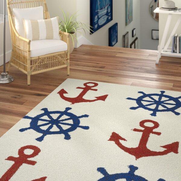 Sereno Handmade Rectangle Ivory Indoor / Outdoor Area Rug by Beachcrest Home
