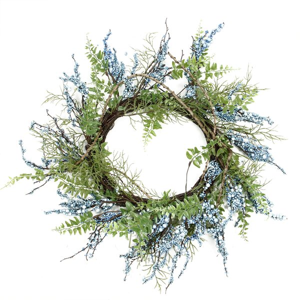 Decorative Berry Artificial Spring Twig Wreath - Unlit by Northlight Seasonal