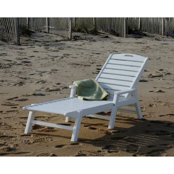 Nautical Chaise with Arms by POLYWOOD®