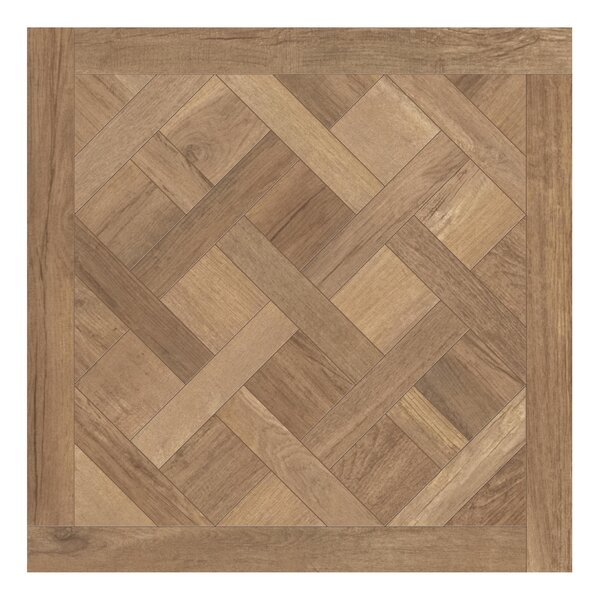 Travel Cassettone Décor 24 x 24 Porcelain Wood Look Tile in South Gold by Travis Tile Sales