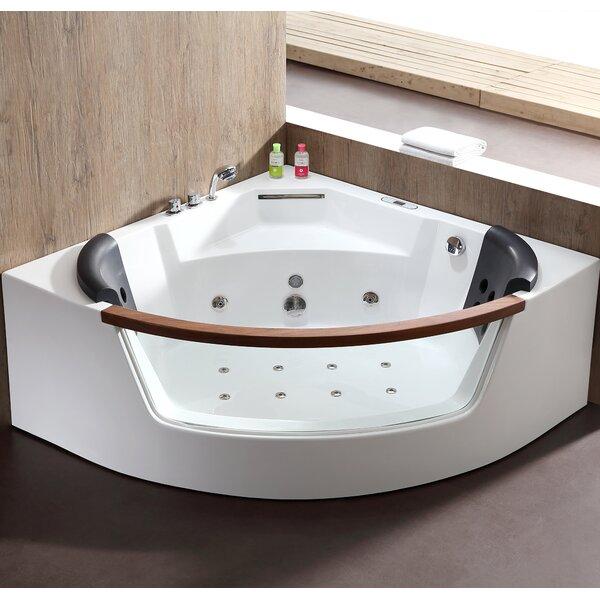 59 x 59 Corner Whirlpool Bathtub by EAGO