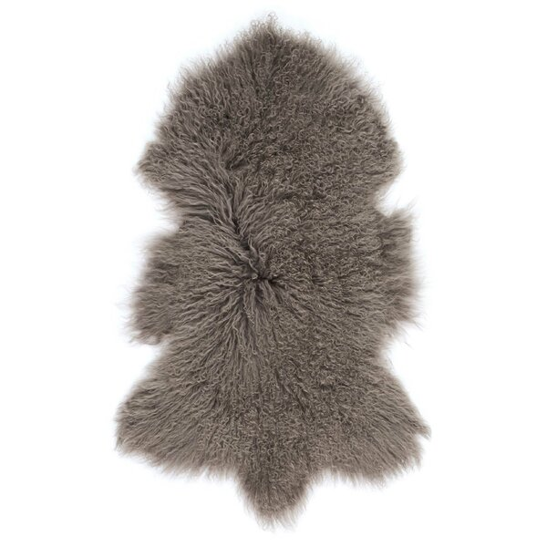 Christine Sheepskin Brown Area Rug by Viv + Rae